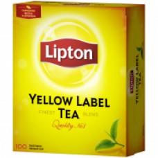 """Чай Lipton """"Yellow Label"""", черный, 100 пакетиков по 2г"""